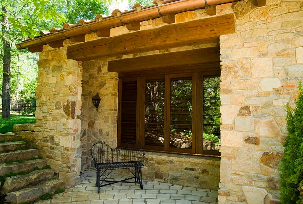 A custom wood push-out casement window by Veranda View